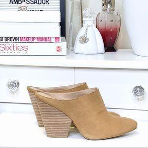 Moda Spana Camel Suede Jill Style Mule Size 8